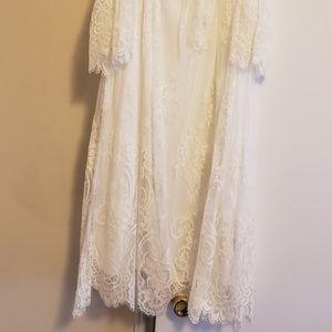 White lace dress size 2